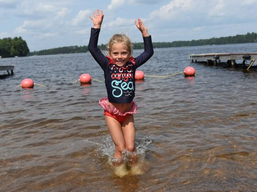 Swimming at Koller Memorial Park Manitowish Waters WI
