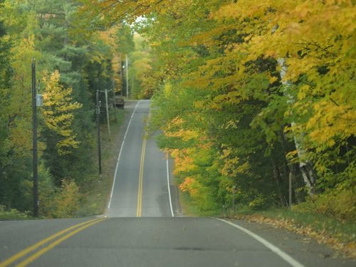 Fall color drive Vilas County Wisconsin