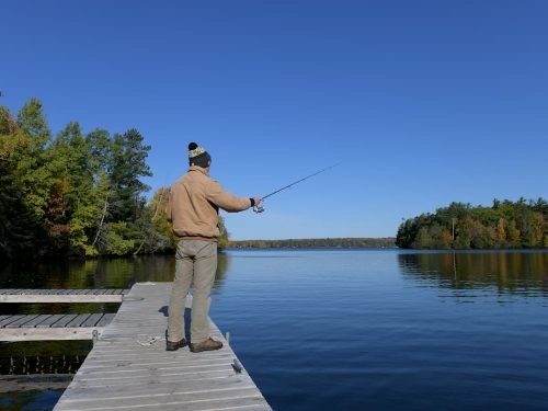 Fall fishing in Vilas County Wisconsin