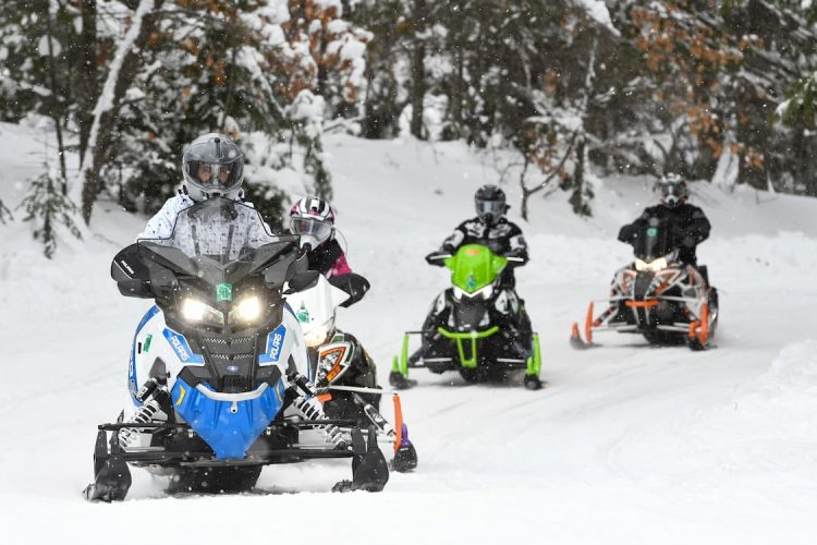 Snowmobiling in the Eagle River area of Vilas County