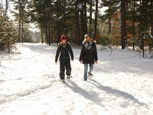 Snowshoeing in Vilas County Wisconsin