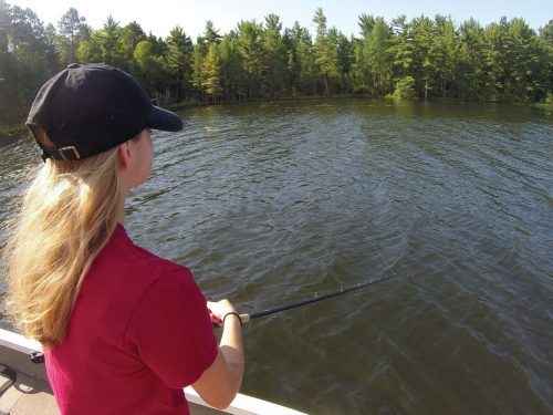 Fishing for trophy fish in Vilas County