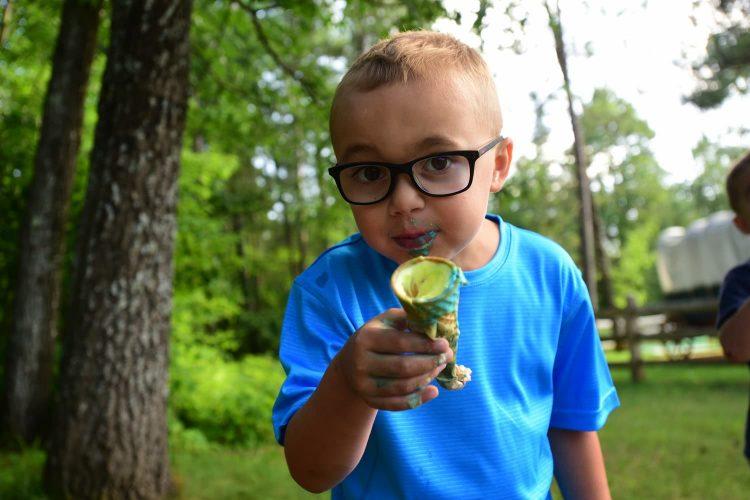 Ice cream at Elmer's Fun Park in St. Germain Wisconsin