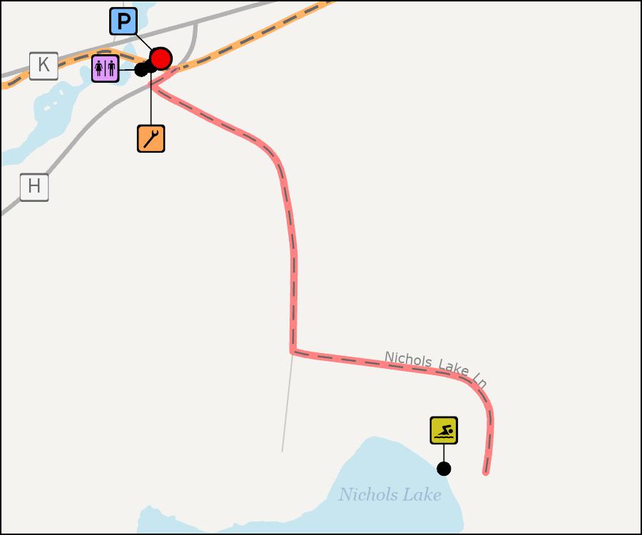 Map - Nichols Lake Landing