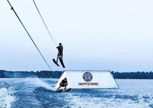 Skiing Skeeters jump